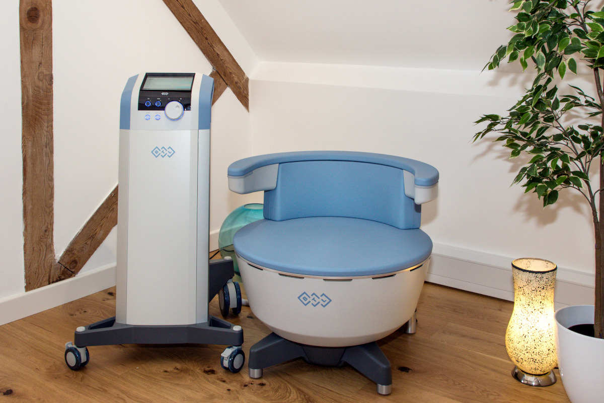 The BTL Emsella Chair located in our West Berkshire Clinic